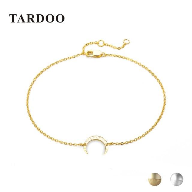 Tardoo Gold Moon Bracelets 925 Silver Crescent Trendy Charm Bracelet Women Fine Jewelry Simple Chain