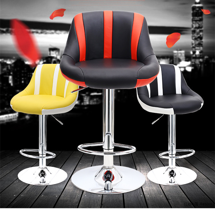 Furniture Responsible Modern Simple Bar Chair Lifted Rotated Coffee Shop Stool Multi-function Cashier Seat With Footrest Household Leisure Pu Stool Bar Furniture
