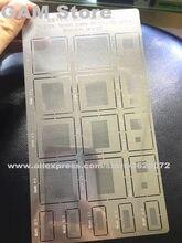 Universal BGA Schablone Multi Funktion Vielseitig 0,2/0,23/0,25/0,27/0,3/0,35/0,4/ 0,46 Loch Reball IC Zinn Anlage Net Wärme Vorlage