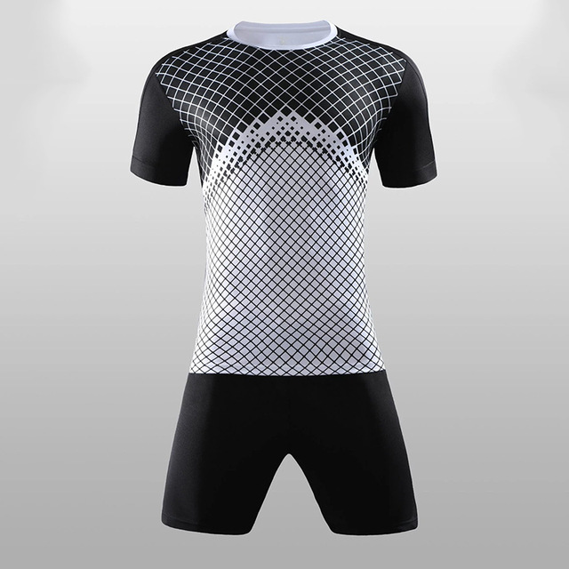 2b6135695 2018 - 2019 Soccer Jerseys & shorts Blank style Soccer uniform short-sleeved  football training suit Customizable number and name