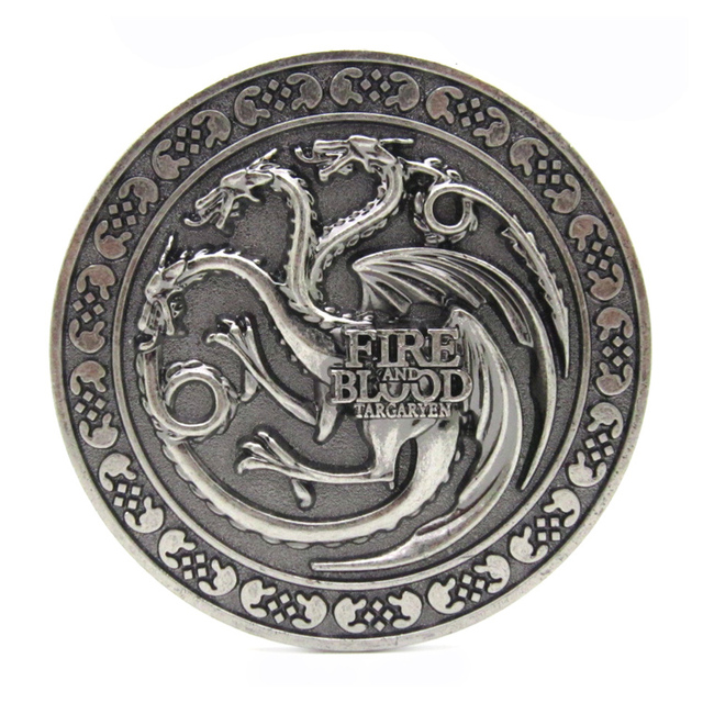 Fire And Blood House Targaryen Game Of Thrones Belt Buckle