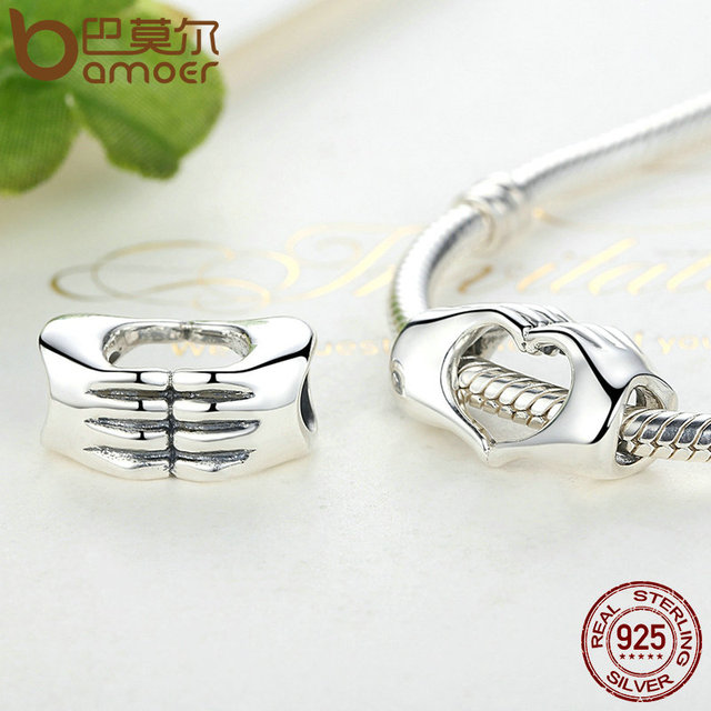Sterling Silver Closed Love Hand Heart Bead