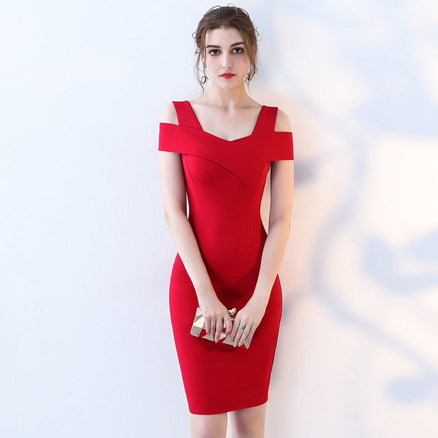 f1c2a4fe1a7 Summer Dress 2019 Sexy Robe Femme Bandage Fitted Office Pencil Dress Women  Red Elegant Classy Patchwork Party Bodycon Dresses