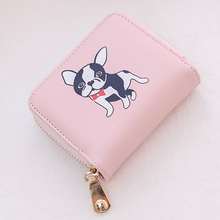 Women's Dog Printed Small Wallet