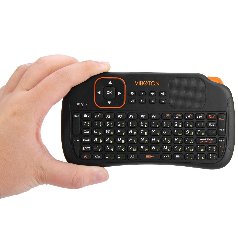 Viboton S1 83 Keys 3-in-1 2.4GHz Mini Wireless Keyboard Air Mouse Remote Control with Touchpad for Pad Andriod Projector TV Box programmable rs232 usb yd511ds 15 keys digital keyboard pin pad password keyboard with lcd for epos access system