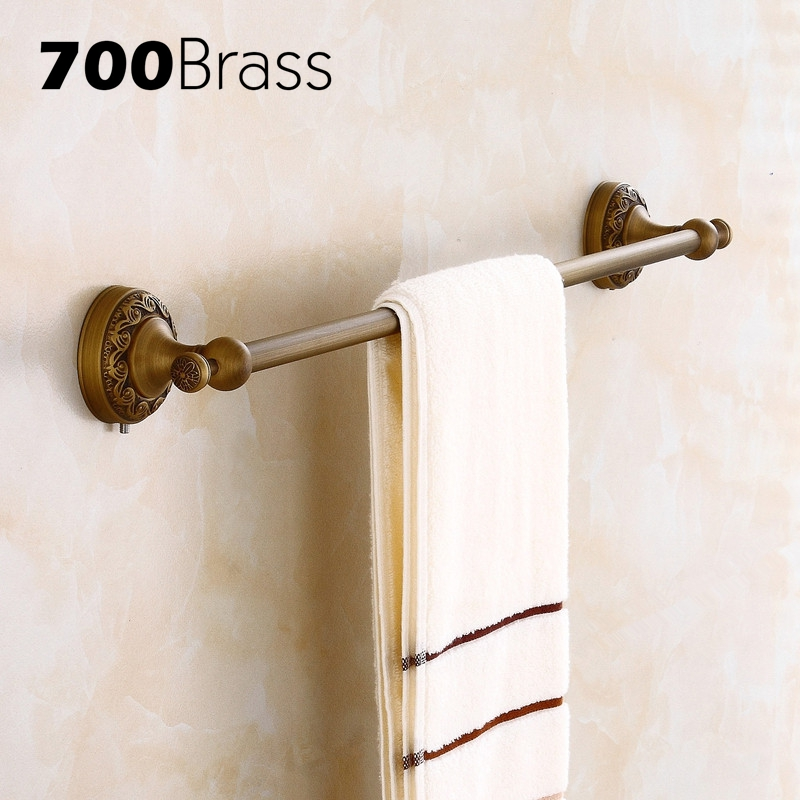 Antique Brass Carving Double Towel Bar Classical Style Wall Mounted Bathroom Towel Bar Accessories Good QualityAntique Brass Carving Double Towel Bar Classical Style Wall Mounted Bathroom Towel Bar Accessories Good Quality
