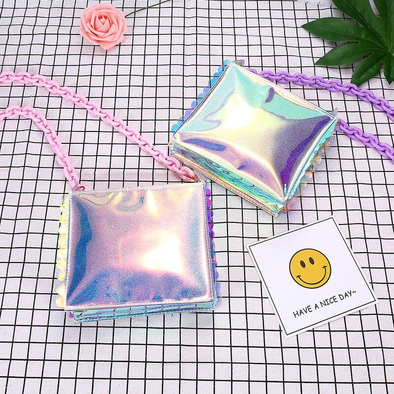Nya 2018 Sommar hologram handväskor för kvinnor söt hjärta print - Handväskor - Foto 4
