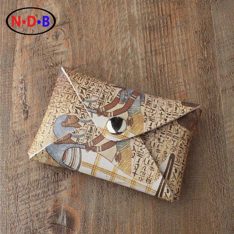 (Coin Purses) New Egyptian mummy pattern design zero wallet coin bag simple casual student change LQB1015