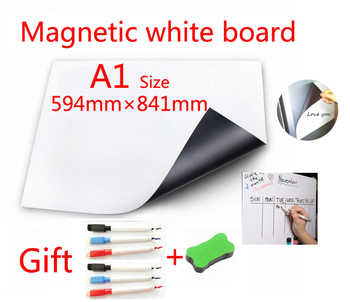 A1 Size Magnetic School White Board Fridge Magnets Wall Stickers Whiteboard for Kids Home Office Dry-erase Board White Boards - DISCOUNT ITEM  46% OFF All Category