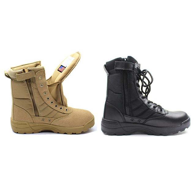 Nueva América Deporte Ejército Botas Tácticas Desierto Botas de Los Hombres Botas de cuero de Senderismo Al Aire Libre Entusiastas Militares Marina Masculina Zapatos de Combate 45