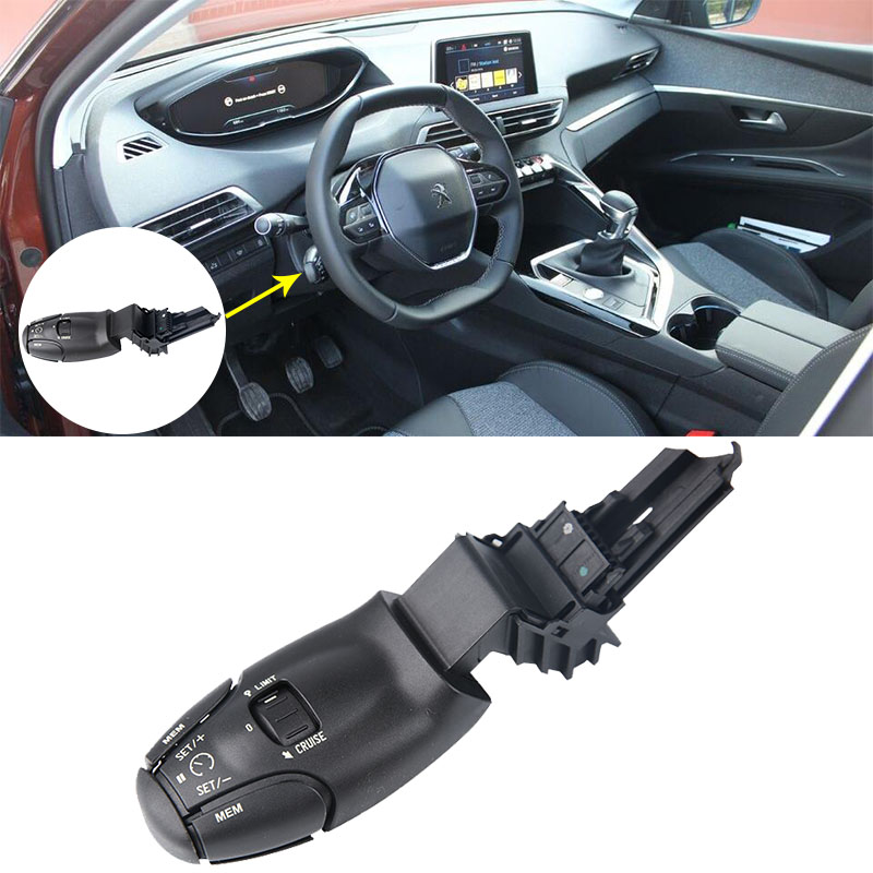 Black latest cruise control switch OEM 6242Z8 for Peugeot 207 307 308 407 607 3008 Citroen C3 C4 C5 C8
