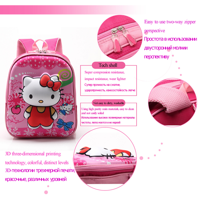Rose Red Hello Kitty Backpacks Plush Cartoon Toy Backpack Girl Character School  Bag Kids Mochila Infantil Bag – World of Hello Kitty Merchandise 6a4b7c2affafc