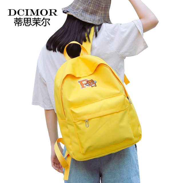 DCIMOR Women Backpack Waterproof Canvas School Bag for Teenagers Embroidery  Backpacks Women s Travel Backpack Bookbag Mochilas 18309160f1