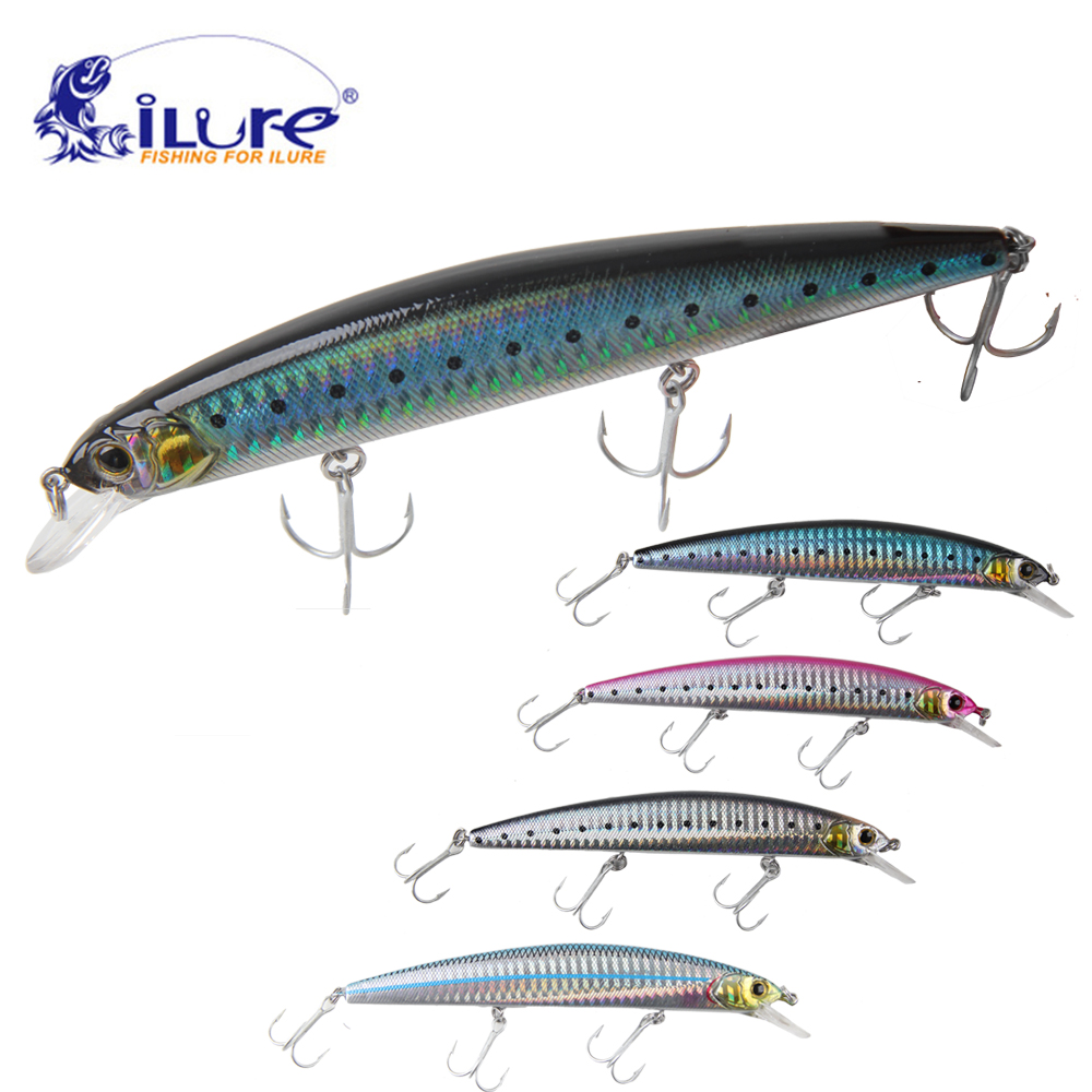 iLure Sea fishing lure 130mm/20g 3D eyes bait hard lure hook VMC Minnow Wobblers fishing tackle trulinoya 6cm 16g fly fishing lure vmc hook fishing hard bait crankbait wobblers artificial bait for sea carp fishing pesca