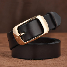 Fancy Genuine Leather Pin Buckle Belt For Women