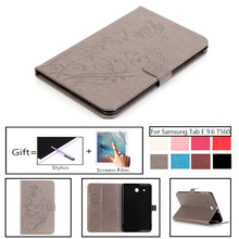 лучшая цена For Galaxy Tab E 9.6 T560 Smart Leather Stand Fundas Case For Coque Samsung Galaxy Tab E 9.6
