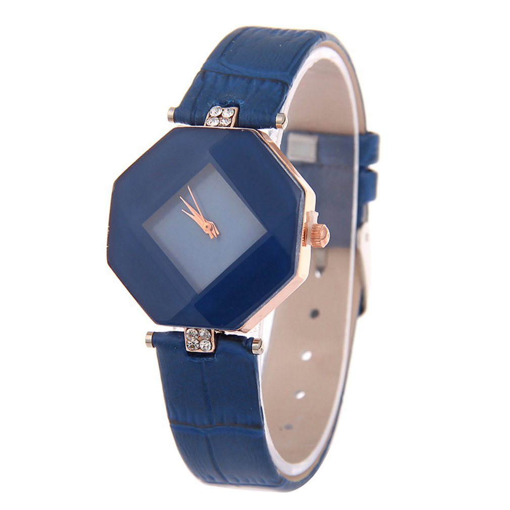 Diamond Mirror Scaleless Lady Belt Watch Waterproof Lady Quartz Watch Fashion Leather Women Watch Casual Wrist Watch HOT SALE