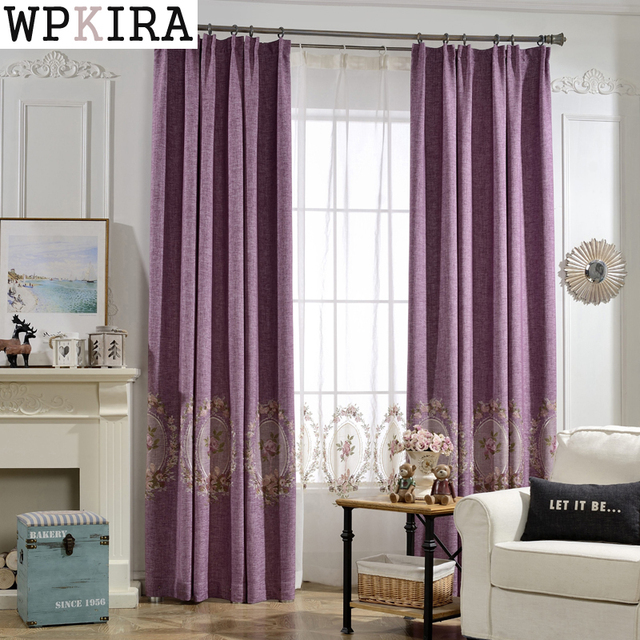 Luxury Curtain Fabric Modern Floral Tulle Window Treatments Sheer Curtains Living Room Bedroom Kitchen Satin