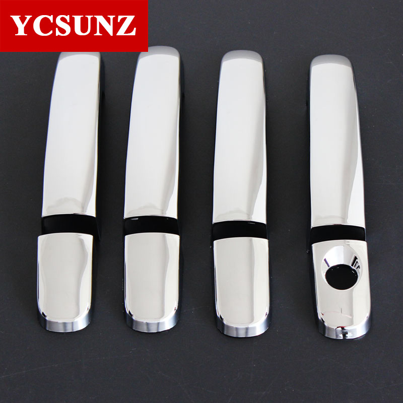 2017 For 2016 Ford Everest Accessories ABS Chrome Door Handle Cover Parts Trim For FORD Everest 2016 New Decorative Accessories