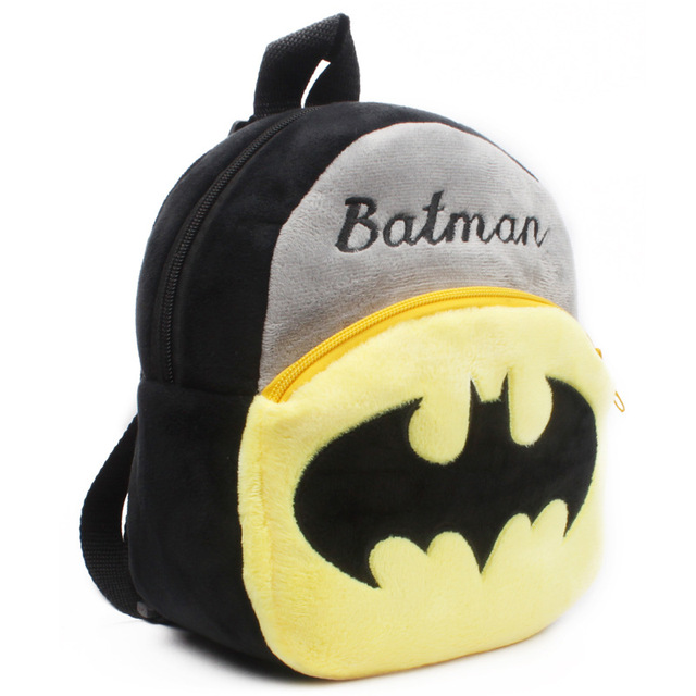 Baby cartoon school bag Batman plush backpack kindergarten baby mini bag cute Bat Man schoolbag bookbag for kids boys gift Kids & Baby Bags