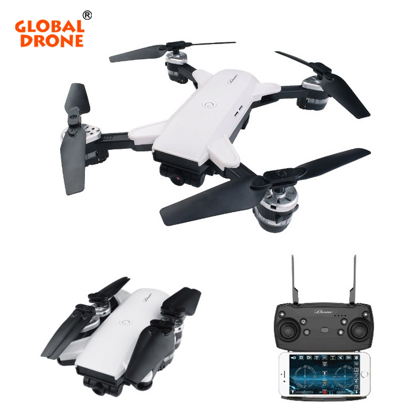 Global Drone YH-19HW Foldable Selfie FPV Drone With Camera HD 720P 3D Flip Altitude Hold RC Helicopter Dron VS XS809HW yh 19hw foldable drone mini rc selfie drone with camera 720p rc drones with camera hd wifi fpv quadcopter dron rc helicopter