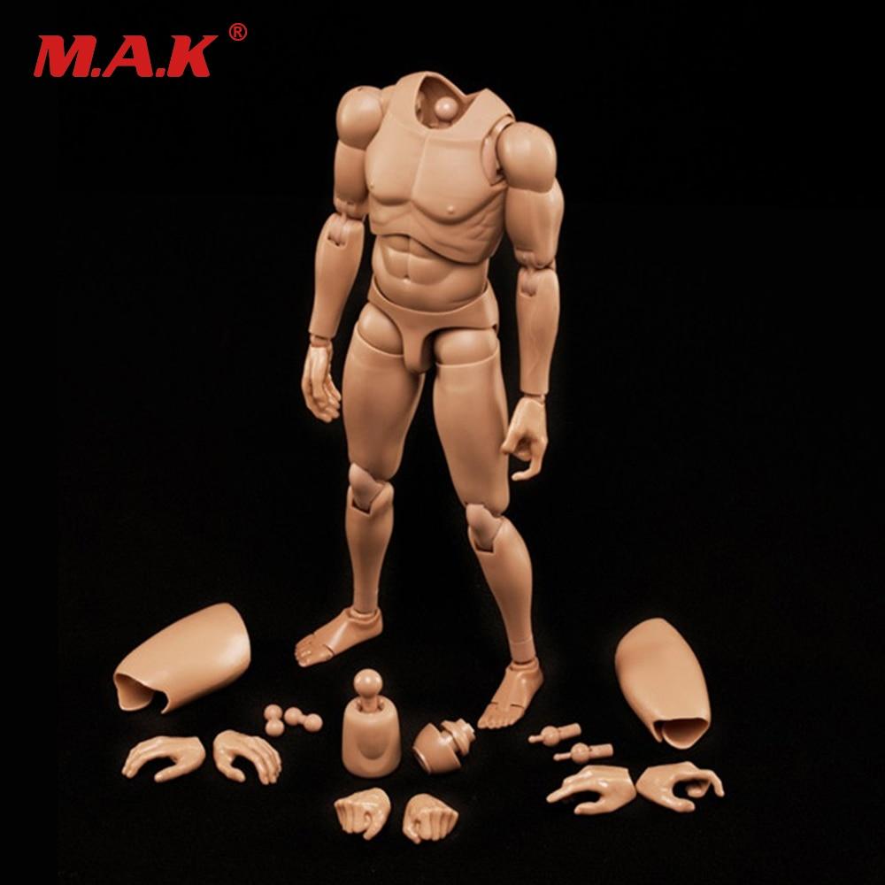 1/6 סולם דמויות צבאיות 1/6 זכר גוף סדרה אסיה צבע העור MX02-B שרף דגם הגוף משלוח חינם