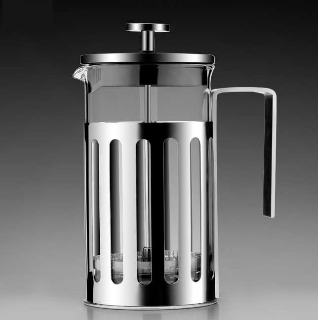 French Press, X-Chef värmebeständig glaskaffe Pressmaskin Pot med - Kök, matsal och bar