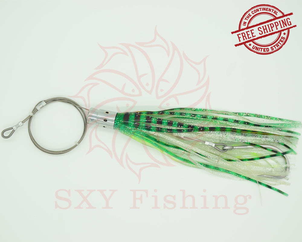 FREE SHIPPING SXY fishing D33 Artificial Bait Drag the bait Deep sea bait Trolling bait Ship bait Octopus bait Big Sport Fishing