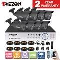 Tmezon 8ch ahd 1080 p dvr 8 pcs 2.0mp 1080 p câmera de segurança Sistema de CFTV de vigilância Auto IR-Cut Night Vision 30 metros 1 TB 2 TB Kit