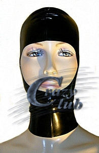 Crazy club_ Latex Fetish Black Mask with cut out face Latex Mask fetish Bodysuit Latex Hood Fetish Free Shipping Fast Delivery horrible mummy latex mask with burst out eye