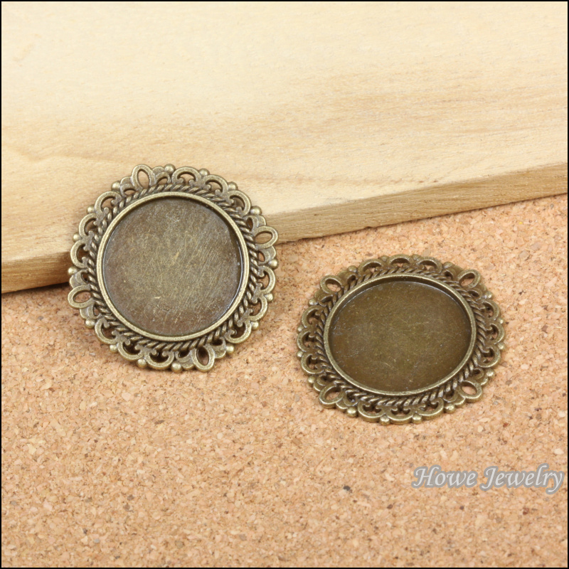 12 pcs daintiness Circular frame Pendant Charm Antique bronze Zinc Alloy fit Bracelet Necklace DIY Metal Jewelry Findings