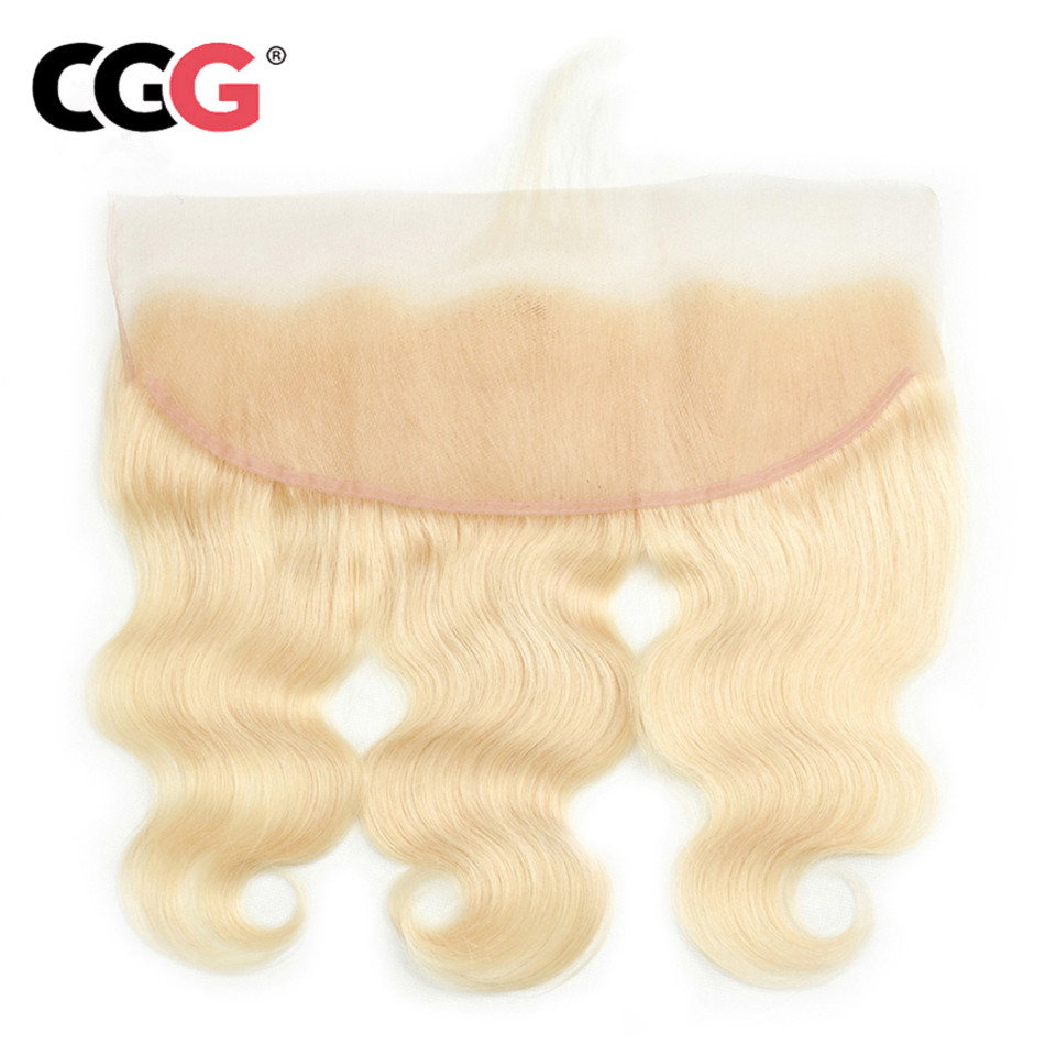 CGG Lace-Frontal Hair Baby-Hair-613 with Peruvian Body-Wave Closure Pure-Color Non-Remy