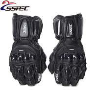 Carbon Fiber Motorcycle Gloves Leather Glove Men Cycling Racing Guantes Moto Motorbike Luvas