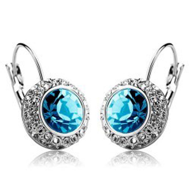 Jewelry processing factory Earrings wholesale Crystal earrings ear clip female - moon river - more color to choose - 126 ...
