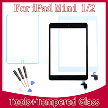 High Quality & Brand New For iPad Mini 1&2 Touch Digitizer Screen + IC Flex Chip + Home Button Free Shipping