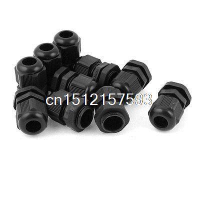 10pz PG9 Nero IP68 Plastica Pressacavo Impermeabile Connettore 4-8mm