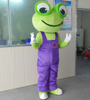 Make EVA Material Frogs Mascot Costumes Frog Cartoon Apparel Birthday Party Masquerade Mascot Costume for Christmas Adult Suit