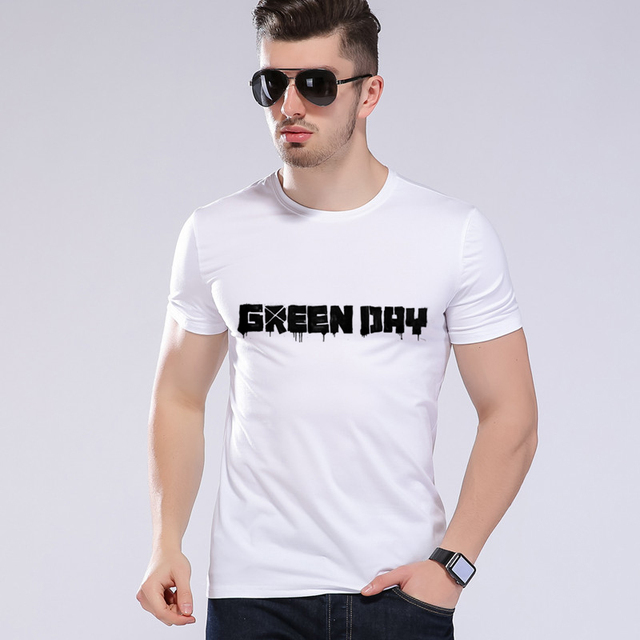 2018 New Arrive Mens T Shirts Green Day Band MUSIC T SHIRT Cotton Tops Summer Casual Short Sleeve Clothing T Shirt Homme  L9-k2