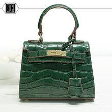 2016 Fashion crocodile grain Designer Women Messenger Bags PU Leather Small Crossbody Shoulder Bags Women Casual Bags