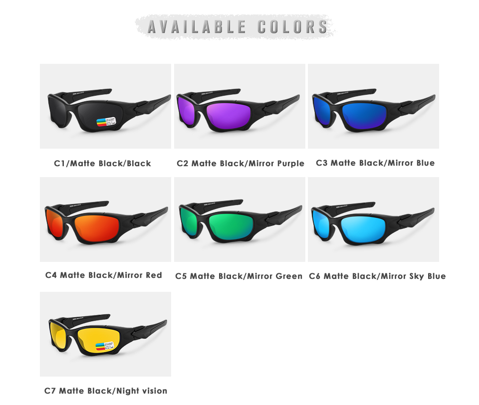 Men Sports Polarized Sunglasses KD0623
