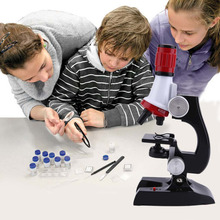 Educational Development Simulation for The Physical Sciences HD Microscope 1200X Can Focus HD Microscope for Kids
