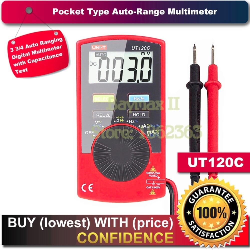 UNI T UT120C Ultra portable Auto Ranging Auto off Digital font b Multimeter b font Capacitance