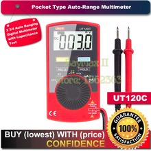Uni-t UT120C pocket Ultra portátil Auto Ranging apagado automático multímetro Digital de la capacitancia, resistencia, AC / DC Meter voltaje actual probador