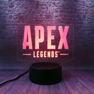 Apex Legends Battle Royale Game Figure Model 3D Illusion Led Lamp 7 Colors Changing Nightlight Apex Legends Figras Toys(China)