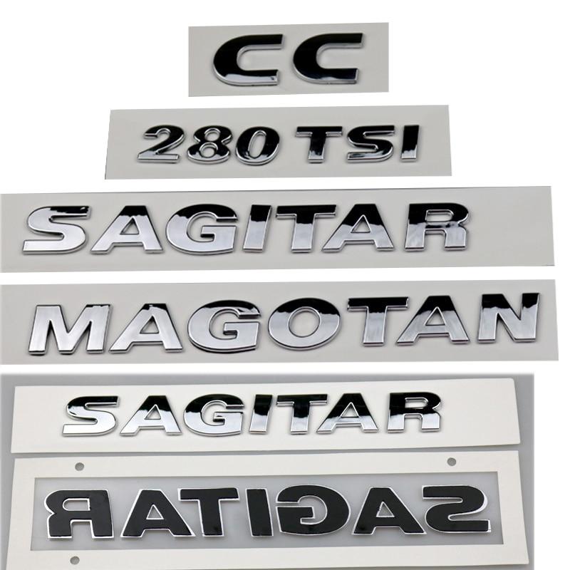Chrome Trunk Letter Logo Car Emblem for VW CC BORA GOLF SAGITAR MAGOTAN JETT LAVIDA PASSAT TOURAN TUGUAN L POLO LAMANDO SANTANA|Car Stickers| |  - title=