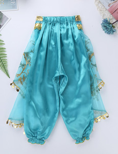 Image 5 - ילדים בנות נסיכת נצנץ פאייטים ריינסטון תלבושות תלבושת כבוי כתף יבול למעלה עם מכנסיים ליל כל הקדושים קוספליי המפלגה להתלבש
