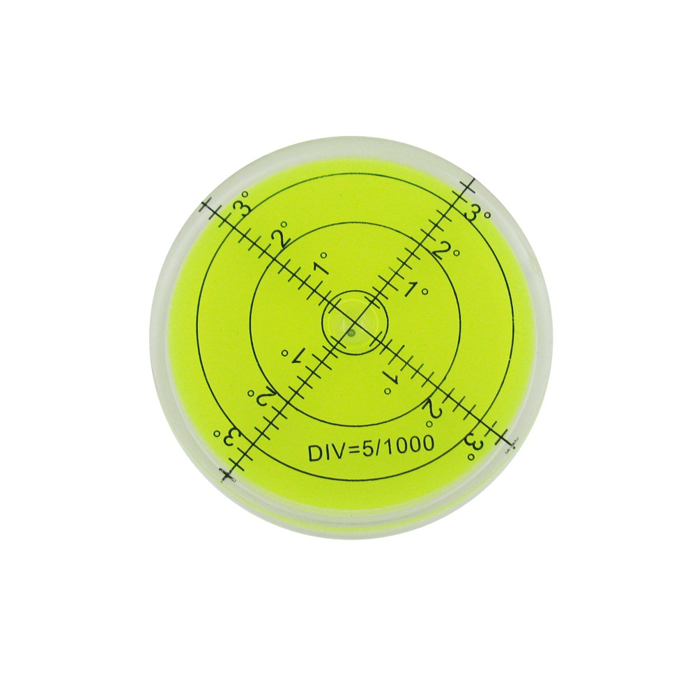 HACCURY 60 * 12mm Circular Bubble Level Spirit Level Round Bubble Level Univerzální úhloměr