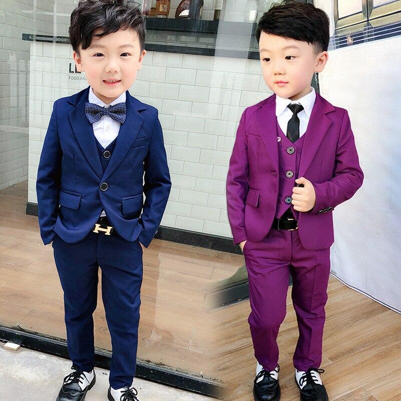 Enfants coréens de Petit Manteau de Costume Fleur Garçon Hôte Robe de Garçon Garçon de Costume Enfants Costumes Formels
