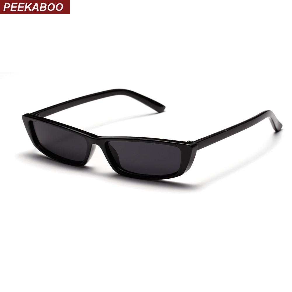 Peekaboo retro pequenos óculos de sol mulheres retangulares presente branco  vermelho preto praça uv400 olho de gato óculos de sol masculino feminino em  ... a9feaed1ab