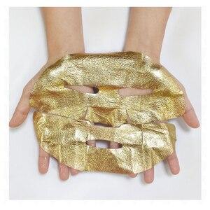 Image 3 - 24 k ouro acima máscaras para hidratação facial hidratante colágeno máscara anti envelhecimento rugas remover óleo controle cuidados com a pele